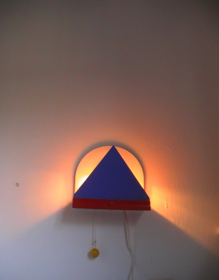 Memphis Style 1980s Wall Lamp Light