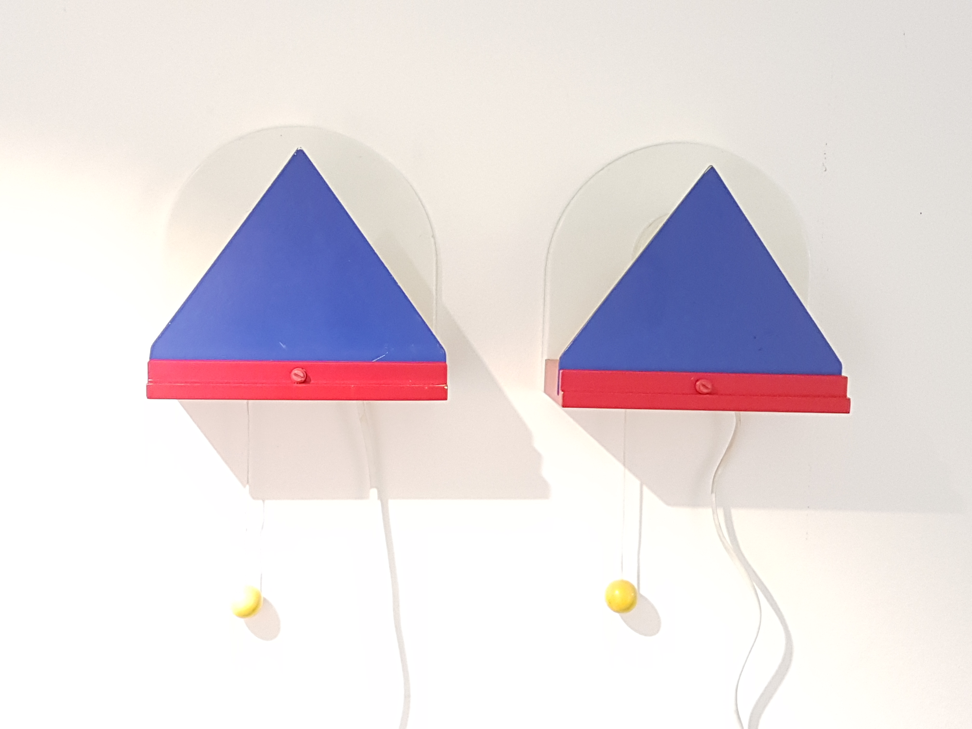 Image of: Sold Ossining Us Pair Of Memphis Style Wall Lamps By Ikea Sweden From The 1980s Vintagonist